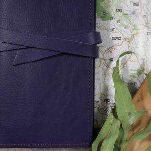 A5 Classic – Tie Closure in Indigo Leather Cover