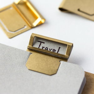 brass index clip travelers company stationery accessories usage 1