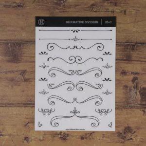 Fancy Dividers – Clear Sticker Sheet