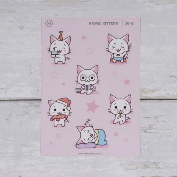 kawaii kittens activities set