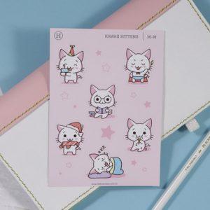 Kawaii Kittens (Activity) – Gloss Sticker Sheet