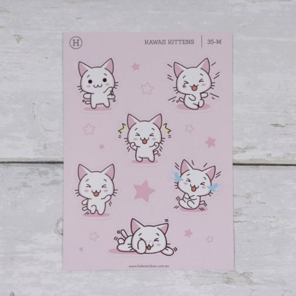 kawaii kittens happy set