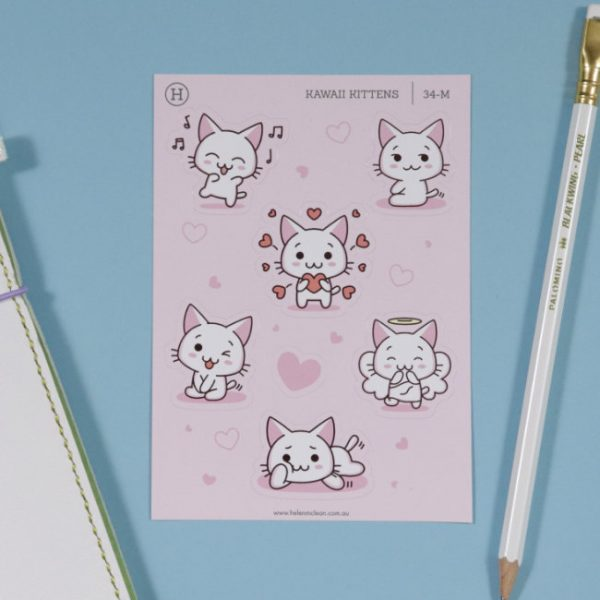 kawaii kittens love set