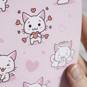 Kawaii Kittens (Love) – Gloss Sticker Sheet