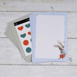 Rabbit Fables – Mini Letter Writing Set – Design 1