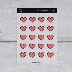Hearts – Gloss Sticker Sheet
