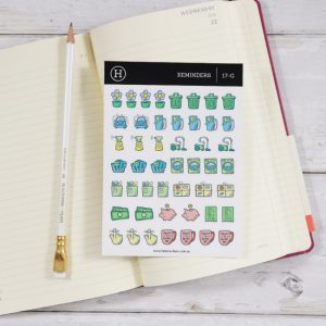 sticker sheet reminders for planner hero