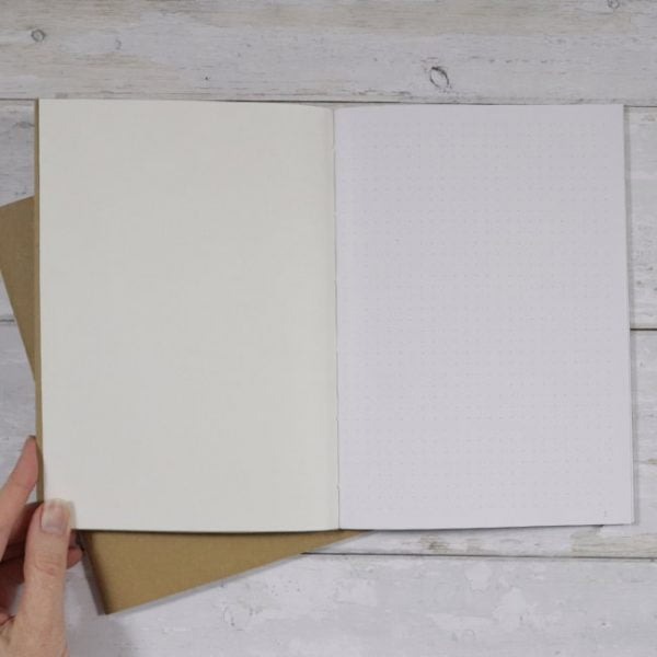 A5 Dot Grid Softcover Notebook inside