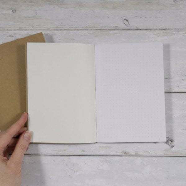 B6 Dot Grid Softcover Notebook inside