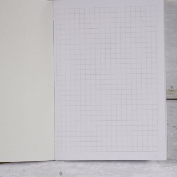 Grid note paper numbered