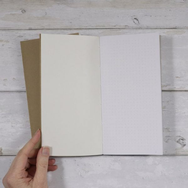 Slim Standard TN Dot Grid Softcover Notebook inside