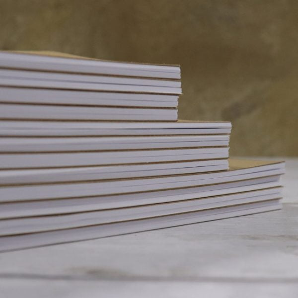 hand cut and hand made notebooks