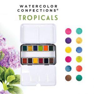 watercolour paint tropicals collection