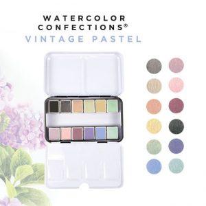 watercolour paint vintage pastels collection