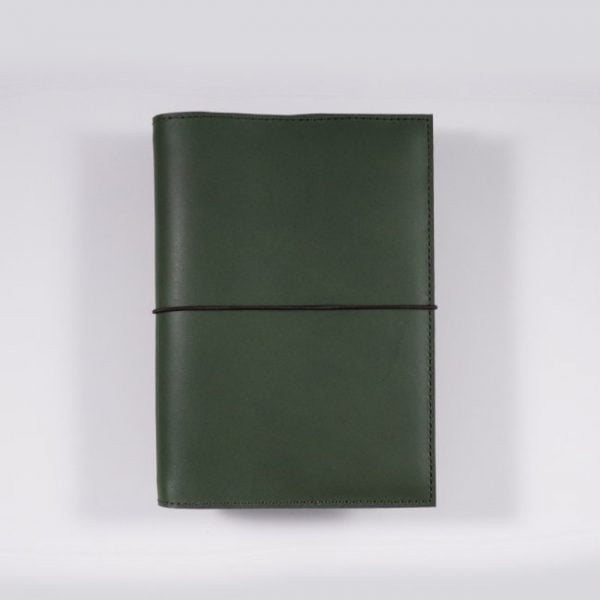 B6 leather notebook cover elastic forest