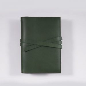 B6 Classic – Tie Closure in Forest Green Leather