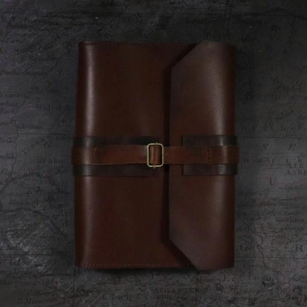last crusade leather cover by helen mclean closed