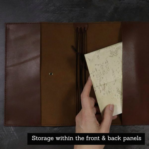 last crusade leather cover by helen mclean panel storage