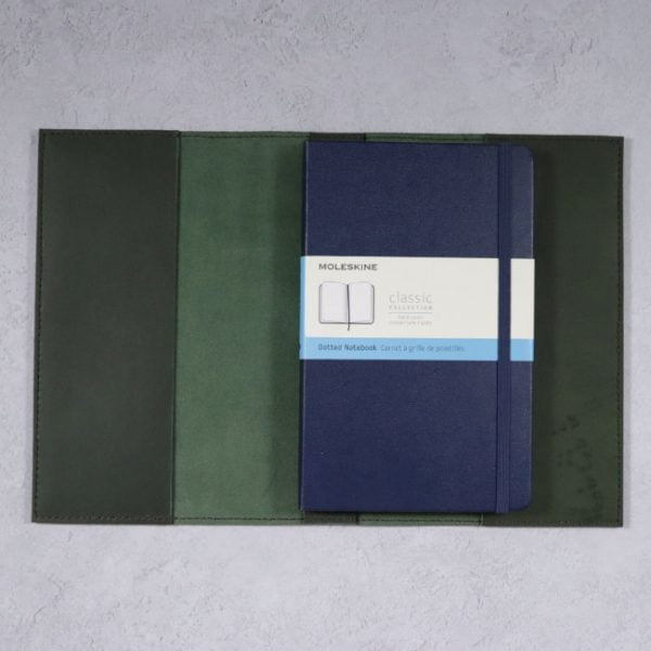 leather cover moleskine notebook forest