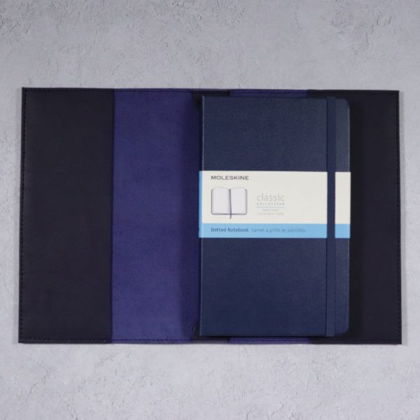 leather cover moleskine notebook navy