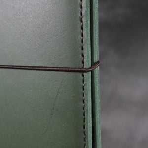 A6 Classic – Elastic Closure in Forest Green Leather Cover