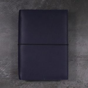 A5 Classic – Elastic Closure in Navy Blue Leather Cover