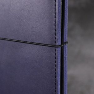 A6 Classic – Elastic Closure in Navy Blue Leather Cover