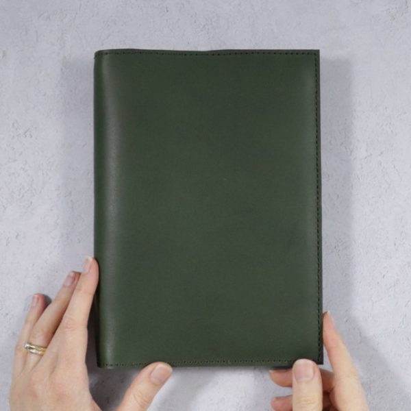 leather notebook cover none forest held