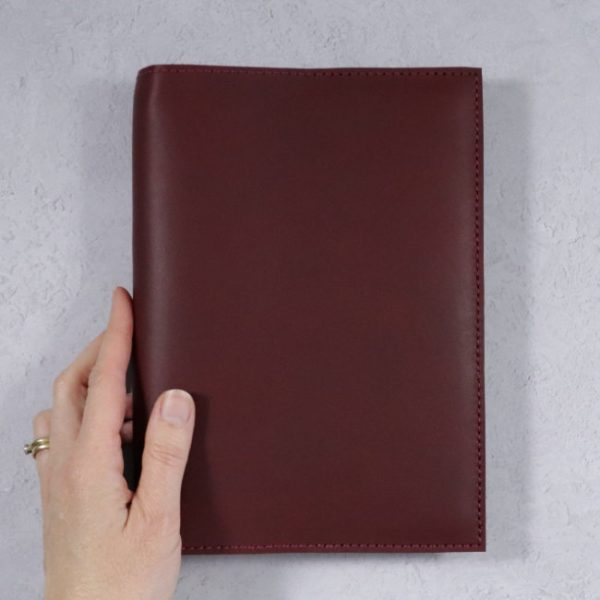 leather notebook cover none mahogany held