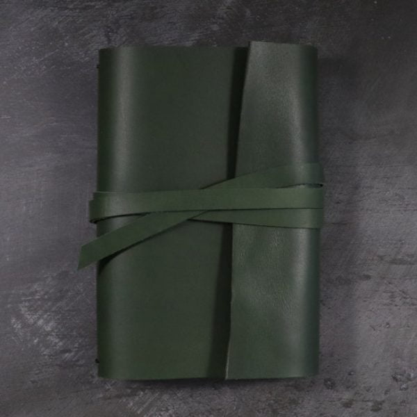 leather wrap notebook cover wrap forest