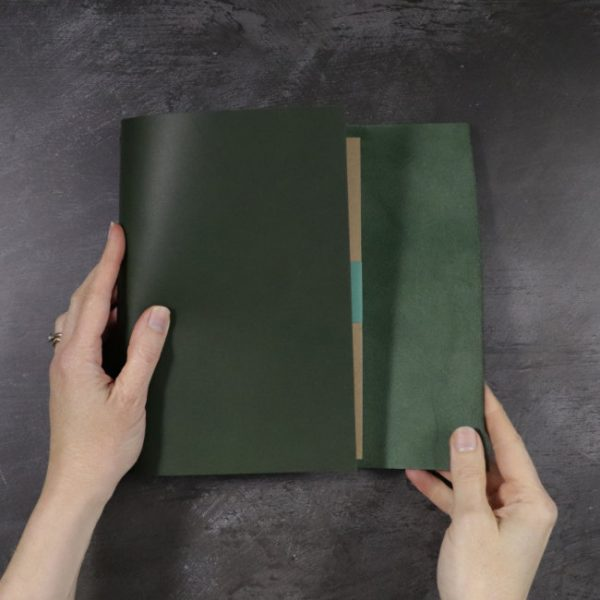 leather wrap notebook cover wrap forest wrapping