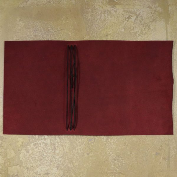 leather wrap notebook cover wrap mahogany open