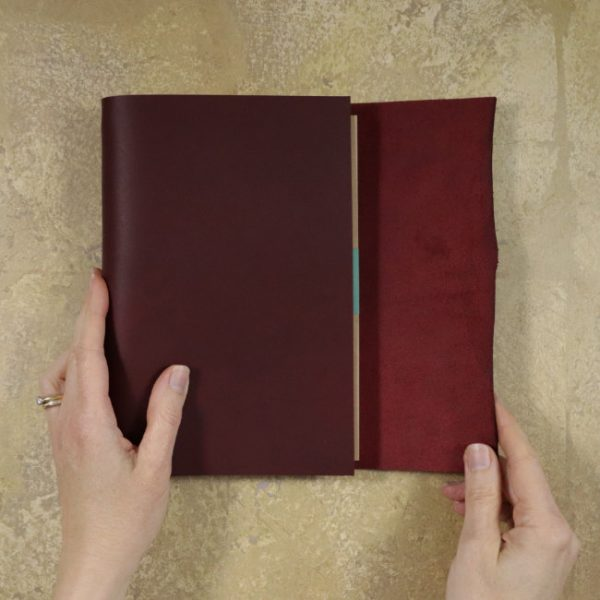 leather wrap notebook cover wrap mahogany wrapping