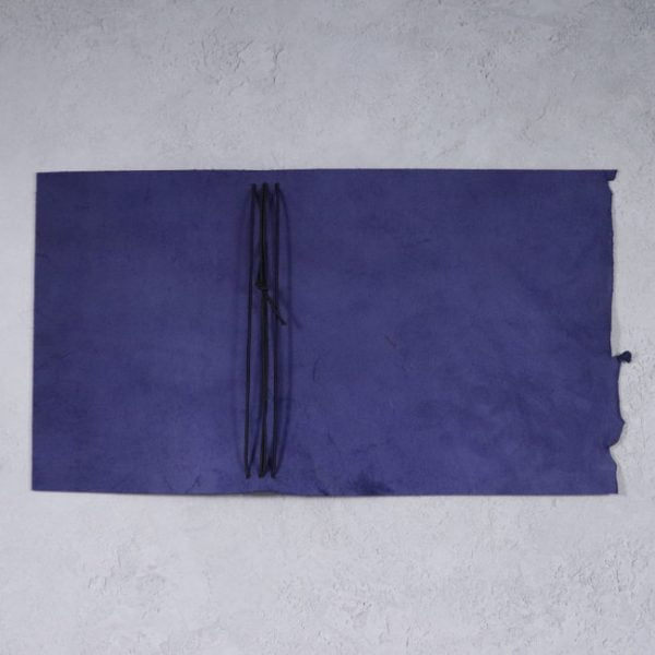 leather wrap notebook cover wrap navy open
