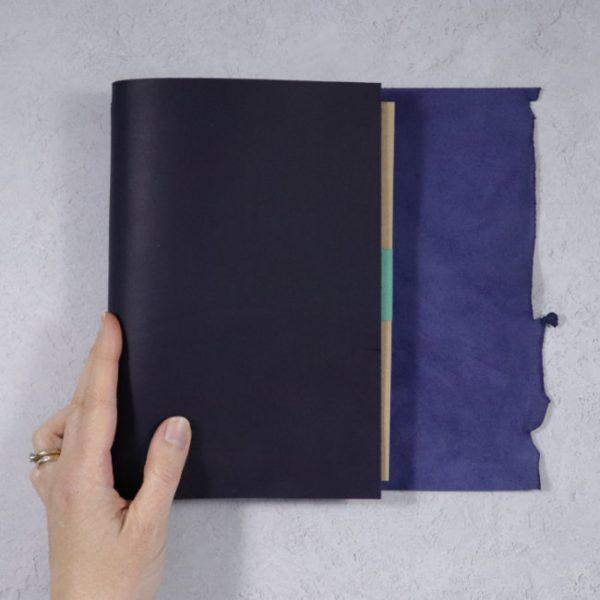 leather wrap notebook cover wrap navy wrapping