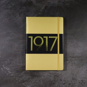 Leuchtturm1917 Hardcover 251 pg – Ruled Lines A5 Notebook – Gold