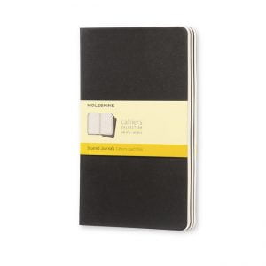 Moleskine Cahier Square Grid Notebook 80 pg – Black – 3 pack