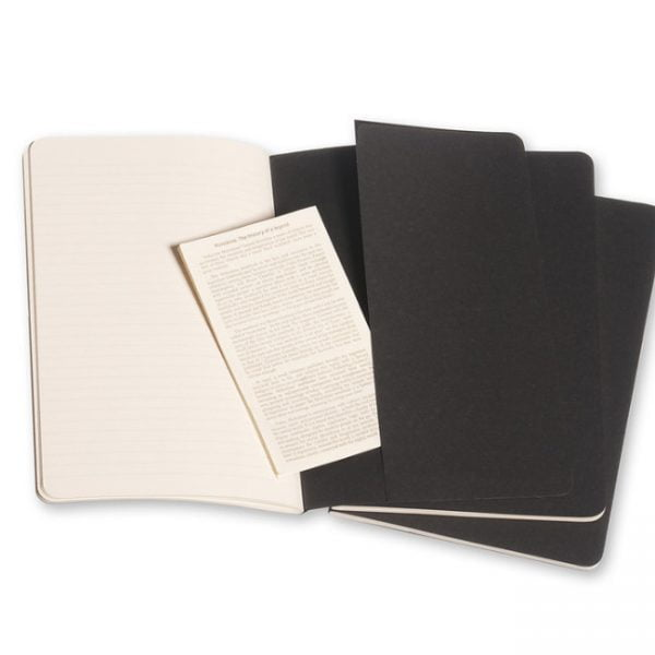 moleskine cahiers black ruled back