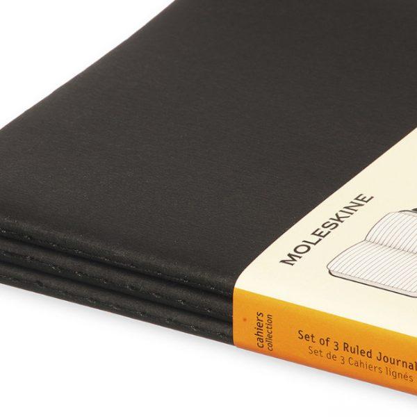 moleskine cahiers black ruled detail