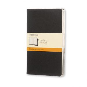 moleskine cahiers black ruled front