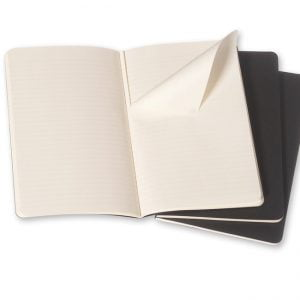 Moleskine Cahier Ruled Notebook 80 pg – Black – 3 pack