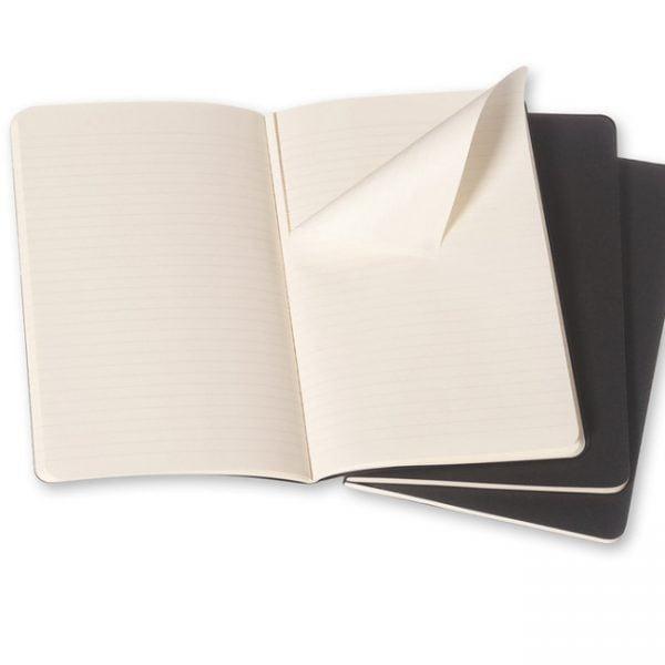 moleskine cahiers black ruled inside