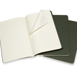 Moleskine Cahier Ruled Notebook 80 pg – Myrtle Green – 3 pack