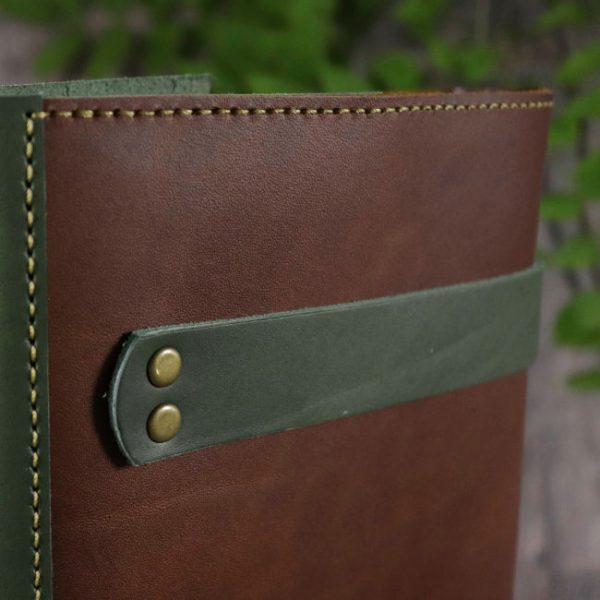 the hobbit leather cover by helen mclean back detail