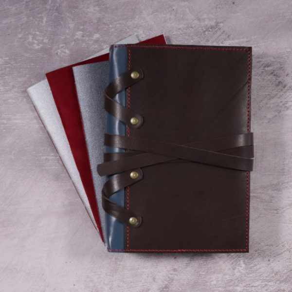thor leather cover and notebooks by helen mclean