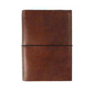 Stillman & Birn Leather Cover – Elastic Closure in Cognac