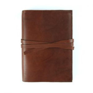 Stillman & Birn Leather Cover – Tie Closure in Cognac