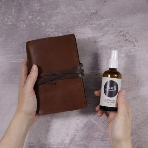 Leather Bound Notebook & Travel Set