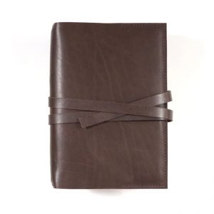 Stillman & Birn Leather Cover – Tie Closure in Dark Mocha