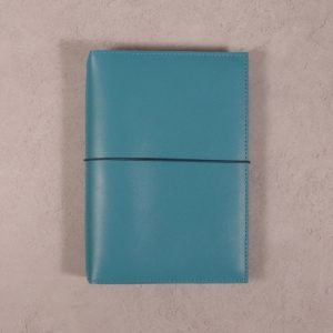 B6 – Teal Blue Leather Notebook Cover